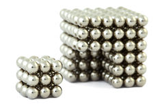 Cubo montado das esferas magnéticas sem entalhe Fotografia de Stock Royalty Free