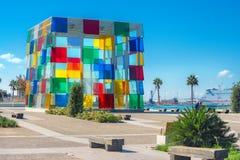 Cubo multicolore del centro contemporaneo di Pompidou del museo in Mala Immagini Stock Libere da Diritti