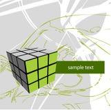 Cubo no fundo abstrato Imagem de Stock