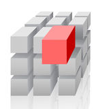 Cubo-Ostruisca Fotografie Stock Libere da Diritti