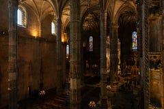 Cubo principal de la iglesia del monasterio de Jeronimos Fotografía de archivo libre de regalías