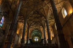 Cubo principal de la iglesia del monasterio de Jeronimos Fotos de archivo