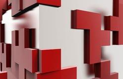 Cubo quadrato dell'estratto di puzzle Immagini Stock Libere da Diritti