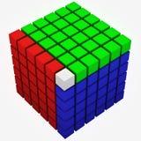 Cubo rgb Ilustração Royalty Free