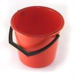 Cubo rojo Foto de archivo libre de regalías