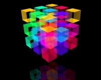 Cubo rojo ilustración del vector