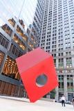 Cubo rojo Fotos de archivo