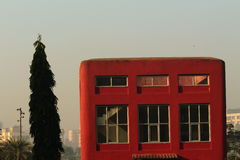 Cubo rojo Foto de archivo