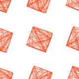 Cubo rojo 3D, ejemplo del modelo inconsútil Foto de archivo
