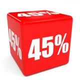 cubo rojo de la venta 3d descuento del 45 por ciento Fotos de archivo libres de regalías