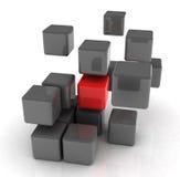 Cubo rosso illustrazione di stock