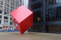 Cubo rosso Fotografie Stock