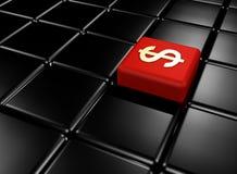 Cubo rosso Fotografia Stock Libera da Diritti