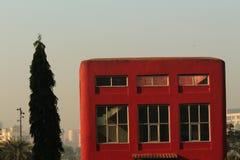 Cubo rosso Fotografia Stock
