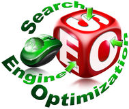 Cubo SEO - Optimización del Search Engine ilustración del vector