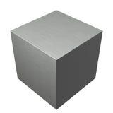 Cubo spazzolato del metallo Fotografie Stock