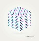 Cubo tridimensionale dei punti colorati Fotografia Stock