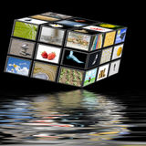Cubo TV Fotografia Stock