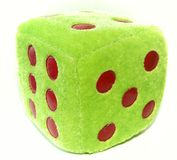 Cubo verde Immagine Stock Libera da Diritti