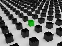 Cubo verde diferente Fotografia de Stock Royalty Free