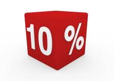 cubo vermelho 10 da venda 3d branca Imagem de Stock