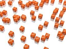 Cubo vermelho Imagens de Stock