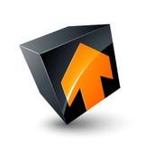 Cubo y diseño de la flecha Fotos de archivo