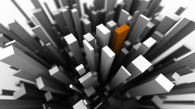 Cuboid city Royalty Free Stock Image