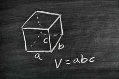 Cuboid volume formula Royalty Free Stock Photo