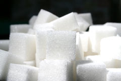 Cubos 2 do açúcar Fotos de Stock
