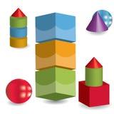 cubos 3d Imagem de Stock Royalty Free