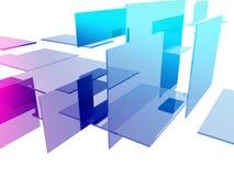 cubos 3d Foto de archivo libre de regalías