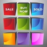 cubos 3D Imagen de archivo libre de regalías