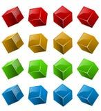 Cubos 3D brilhantes da cor Fotografia de Stock
