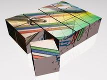 Cubos stock de ilustración