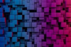 Cubos abstractos Foto de archivo libre de regalías