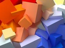 Cubos abstractos Fotos de archivo libres de regalías