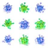 Cubos abstractos 3d fijados Foto de archivo libre de regalías