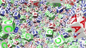 Cubos abstractos del alfabeto del vuelo libre illustration