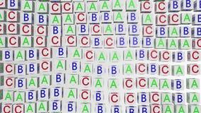 Cubos abstractos del alfabeto en blanco ilustración del vector