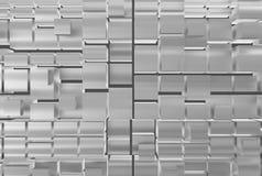 Cubos abstractos del metal Fotos de archivo