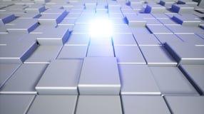 Cubos abstractos Fondo con el cubo que brilla intensamente backg cúbico 3d Foto de archivo