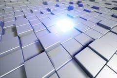 Cubos abstractos Fondo con el cubo que brilla intensamente backg cúbico 3d Foto de archivo libre de regalías