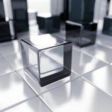 Cubos abstratos Imagens de Stock