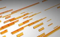 Cubos abstratos da laranja 3D Imagens de Stock