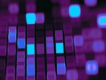 Cubos abstratos do fractal para o projeto de conceito - gerou digitalmente ilustração do vetor
