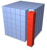 Cubos abstratos do grupo como a pilha separada Imagens de Stock Royalty Free