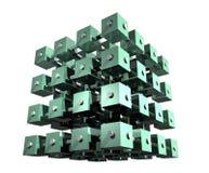 Cubos abstratos dos dados Imagem de Stock