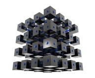 Cubos abstratos dos dados fotografia de stock royalty free
