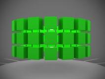Cubos abstratos em uma fileira Fotos de Stock Royalty Free